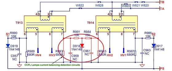 TV LCD inversor esquema